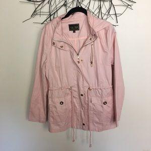Light weight pink C'esttoi cargo jacket. Medium